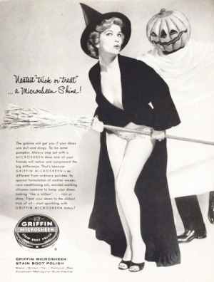 Vintage Griffin Boot Polish Halloween Pinup advert