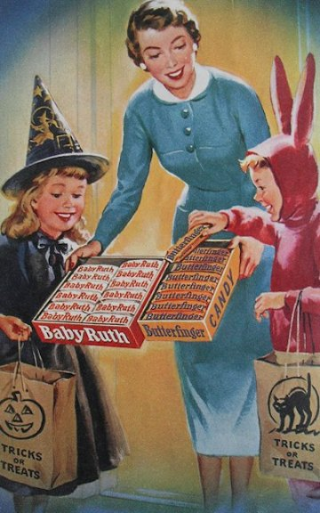 Vintage Halloween Sweets Advert