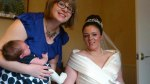 Me, Kirsty and Corliss on Kirsty's wedding today. We're missing Megan!