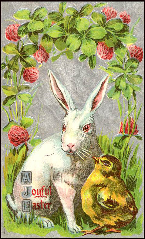 Vintage-Easter-with-Bunny-and-Chick