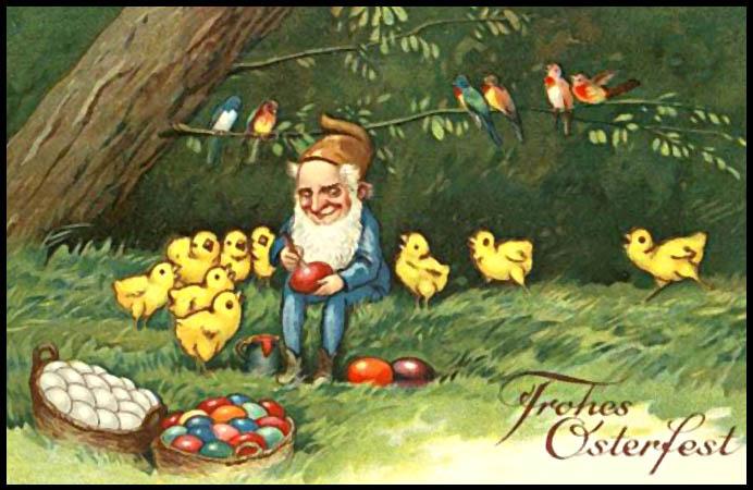 Vintage German Easter Card From 1898