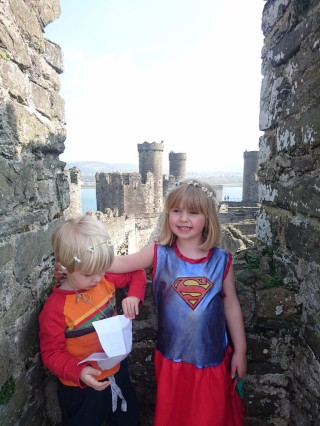 Tower and Treasure map at Conway Castle