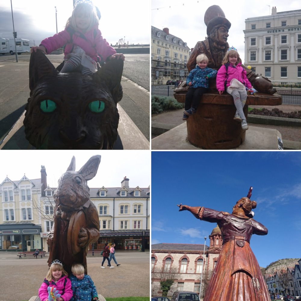 Alice in Wonderland trail in Llandudno