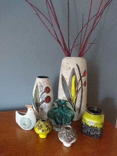 West German Pottery Spring Display