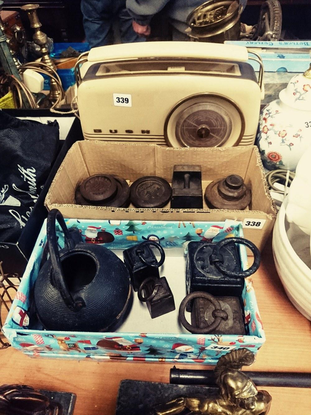 Bush radio and weights