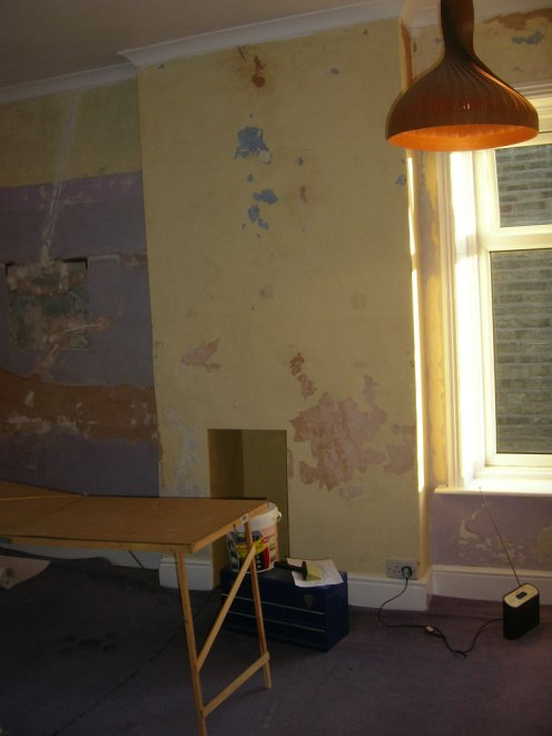 Walls stripped - decorating