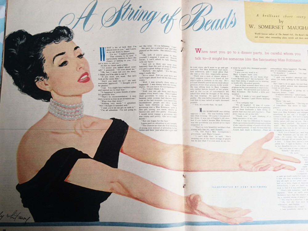 A String of Beads by W. Somerset Maugham - illustrated by Coby Whitmore