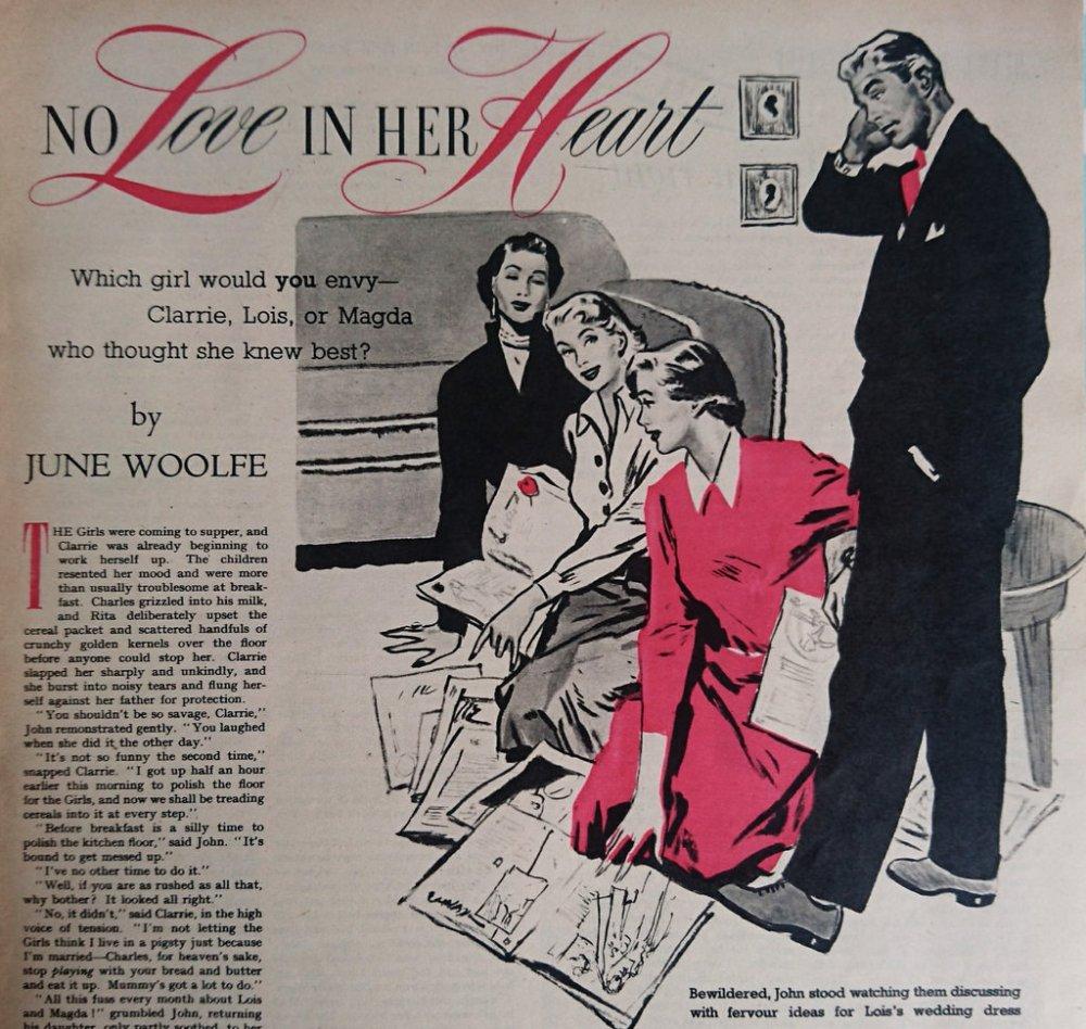Vintage Woman's Own illustration 1952