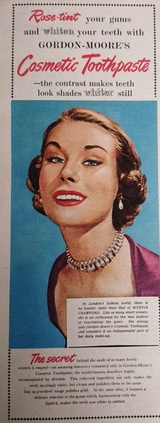 Vintage toothpaste advert 1952