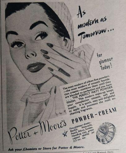 Vintage Cosmetics Advert 1952
