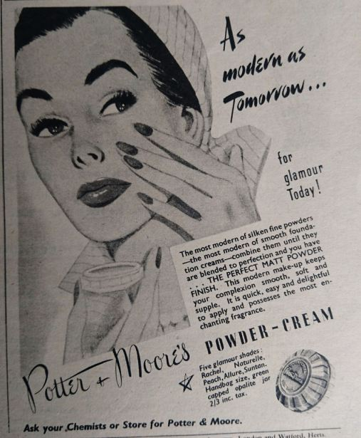 Vintage Cosmetics Advert 1952