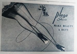 Plaza Sheers Vintage Hosiery Advert 1952