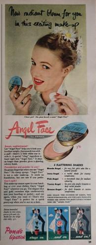 Pond's Angel Face Vintage Advert 1952