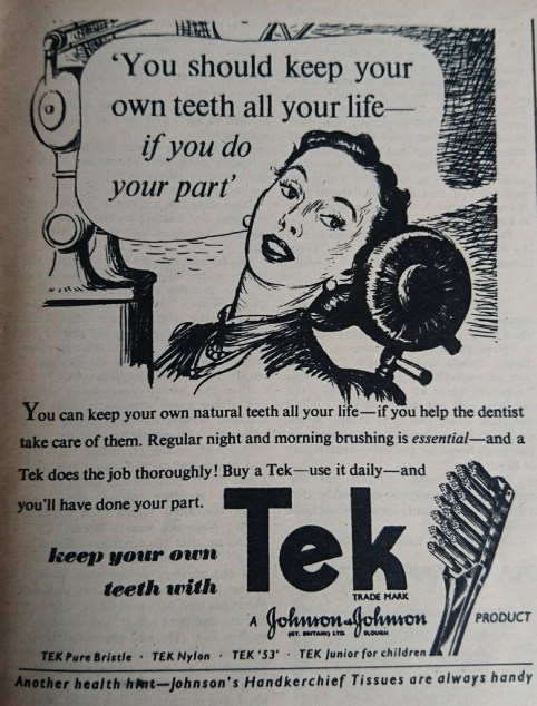 Vintage toothpaste advert