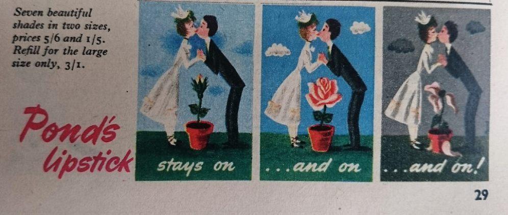 Pond's Lipstick Advert 1952