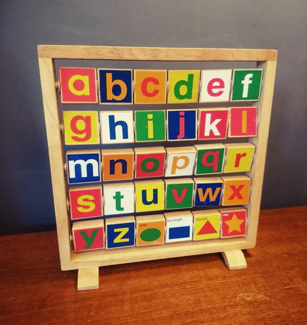 Vintage alphabet abacus